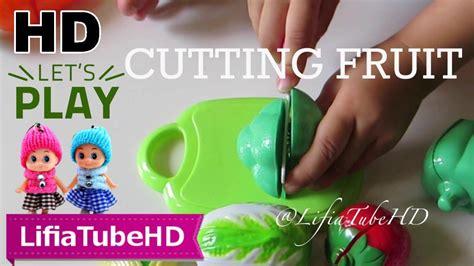 Mainan Cook cutting fruit mainan anak buah mainan potong plastik world cooking kitchen juguete