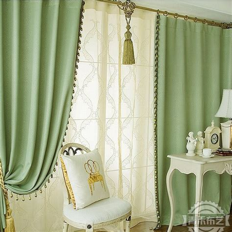 green print curtains living room curtains concise green print blackout heat