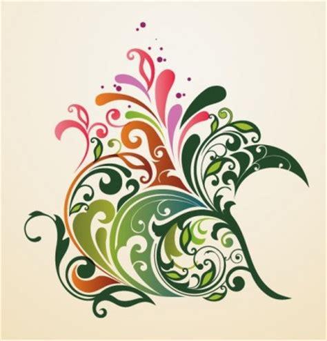 design bunga abstrak hiasan bunga desain abstrak latar belakang vektor grafis