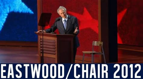 Clint Eastwood Chair Meme - clint eastwood s empty chair speech eastwooding