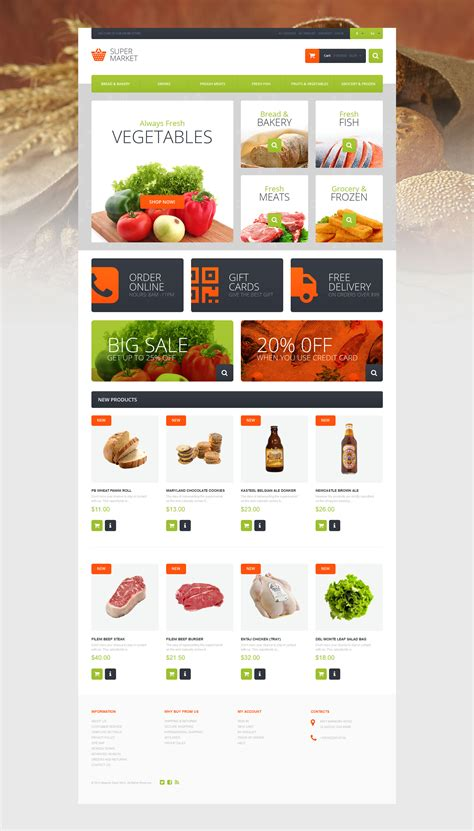 supermarket template magento theme properhost