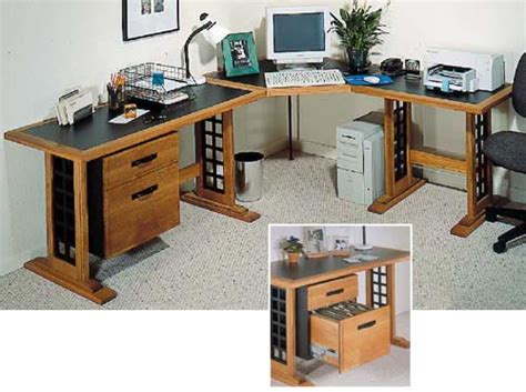 Wooden Computer Desk Plans Computer Desk Woodworking Plan From Wood Magazine