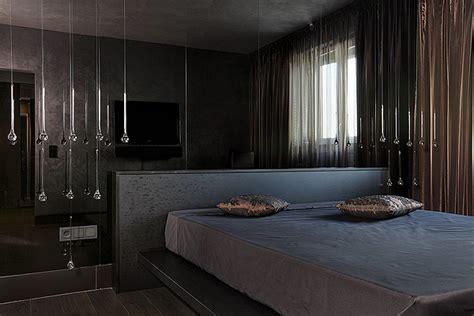 highly modern  stylish interior  dark grey brown colour