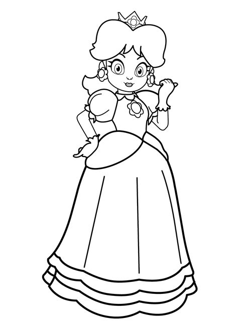 mario coloring pages princess mario coloring pages coloringsuite