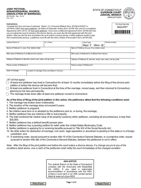 Divorce Forms 266 Free Templates In Pdf Word Excel Download Marriage Dissolution Agreement Template