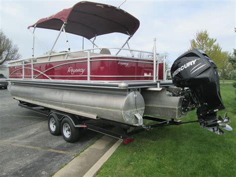regency tritoon boats for sale suntracker regency 254 tritoon w 200hp cover trailer