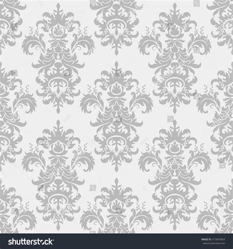 grey victorian wallpaper seamless victorian wallpaper in grey stock vector