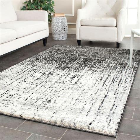 Safavieh Retro - safavieh retro modern abstract black light grey rug 8 9