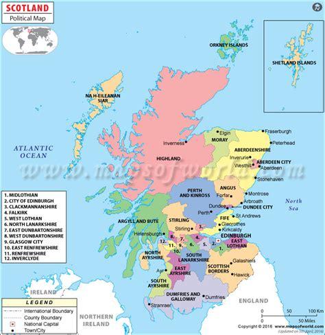 scottland map counties in scotland uk scotland counties maps