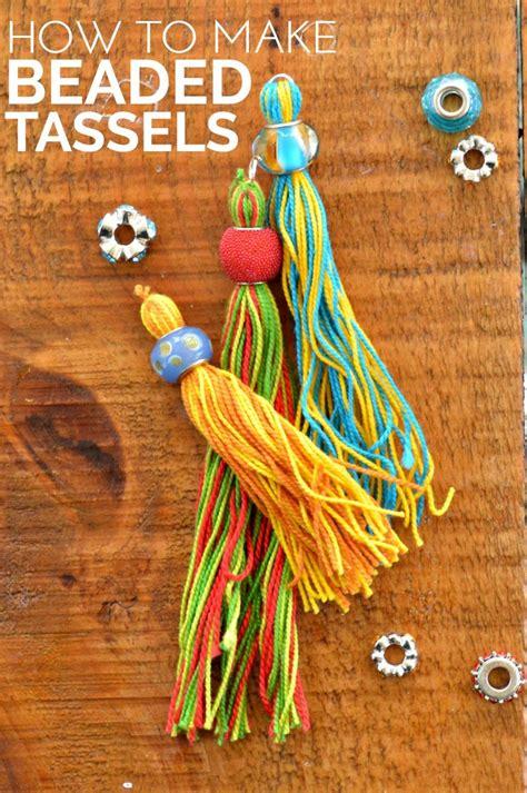 Christmas Crafts Kids Can Make - diy beaded tassels