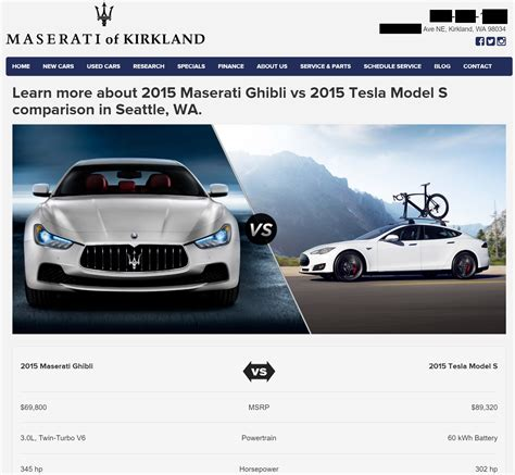 maserati tesla maserati dealership takes tesla model s vs ghibli