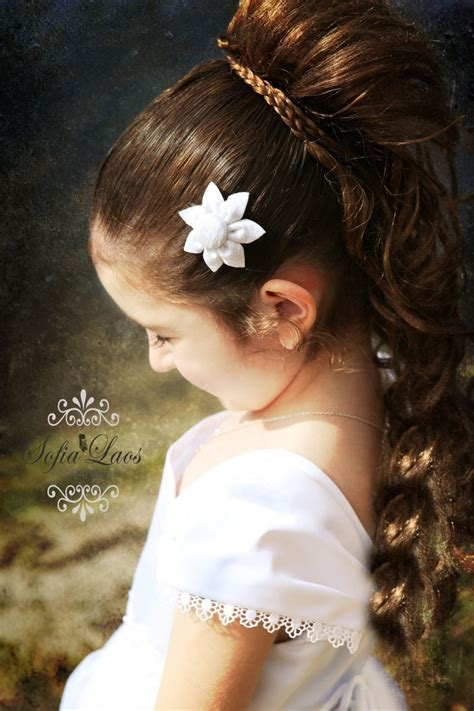 first communion hair dos 14 best communion hairstyles images on pinterest