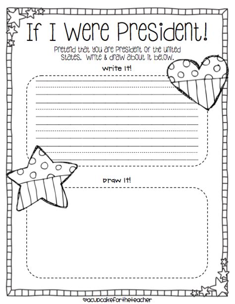 sle of kindergarten writing if i were president drawing page kindergarten social stus