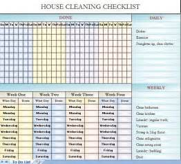 25 best ideas about cleaning schedule templates on