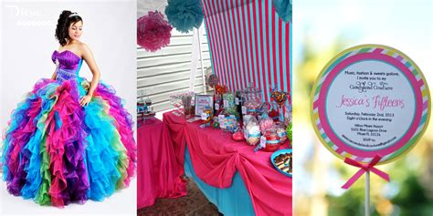 candyland themed quinceanera dress most popular quince themes my quince