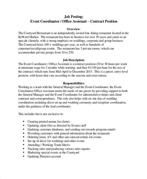 Office Coordinator Job Description Template Workable