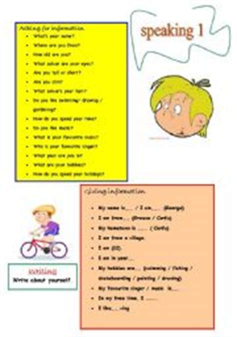 Conversational Elementary 1 teaching worksheets conversation