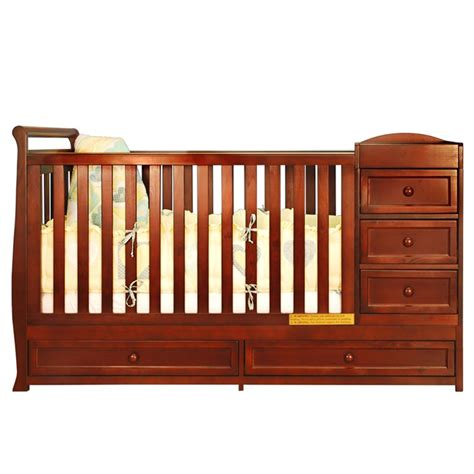 baby cribs and changing table combo changing table crib combo sorelle tuscany 4 in 1