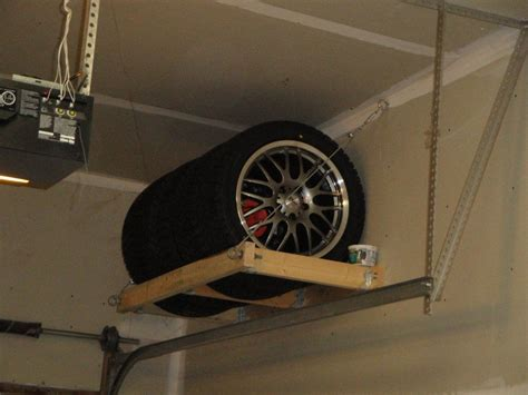 tire rack   workshop diy garage storage tire