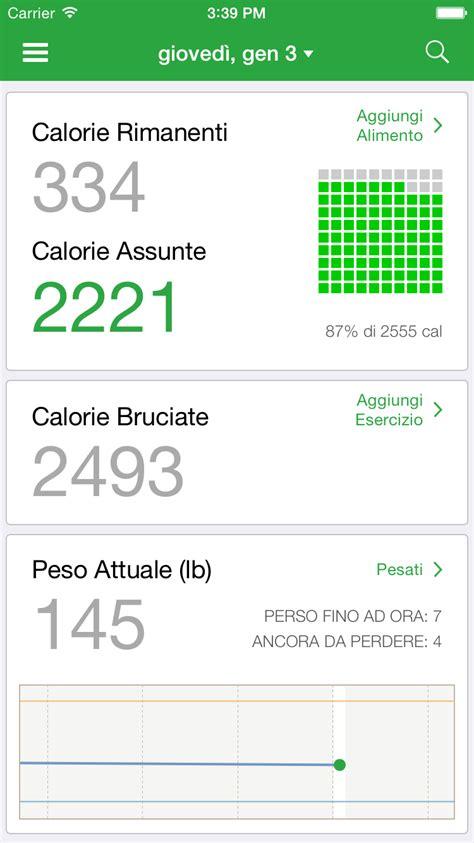 app calorie alimenti fatsecret italia contacalorie e gestione dieta per la
