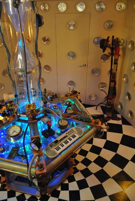 how to build a tardis console room tardis room looks awesomer on the inside technabob