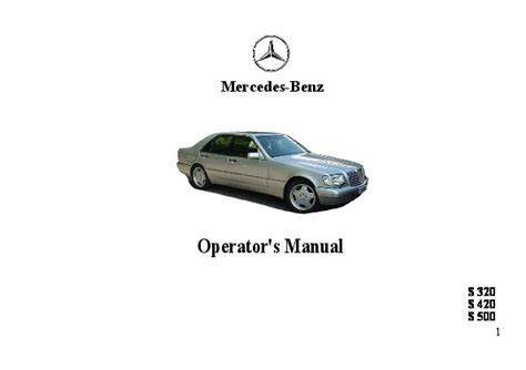 where to buy car manuals 1998 mercedes benz slk class windshield wipe control 1998 mercedes benz s320 s420 s500 w140 owners manual