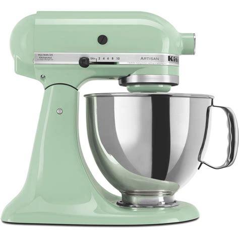 home kitchen aid kitchenaid artisan 5 qt pistachio green stand mixer ksm150pspt the home depot