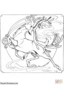nouveau coloring pages nouveau reindeer coloring page free printable