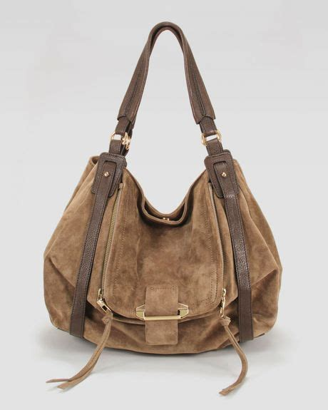 Neiman Sale Continues With Goods From Marc Kooba Tracy by Kooba Jonnie Suedeleather Hobo Bag In Brown Taupe Lyst