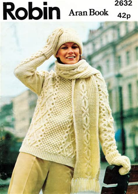 aran knitting pattern books vintage patterns aran knitting by robin family knitting