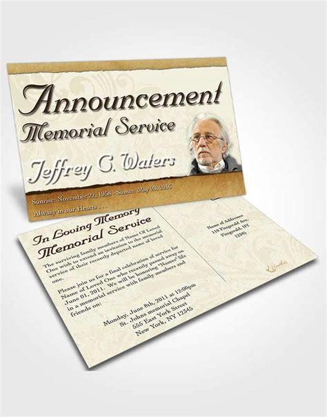 dye funeral memorial card template announcement card template destiny