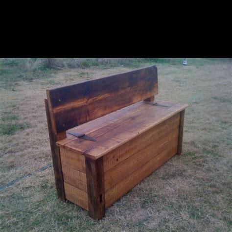 Rustic Storage Bench Rustic Storage Bench By Andre Monceret Home Ideas Pinterest