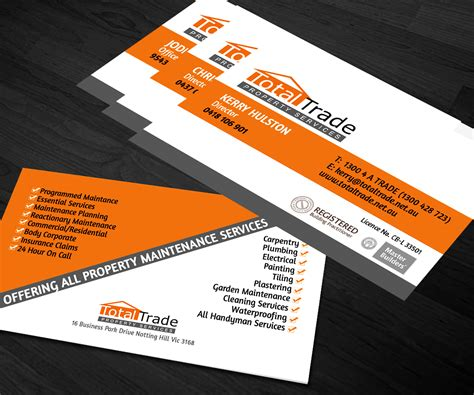 Maintenance Requirement Card Template by Business Card Requirements Australia Image Collections