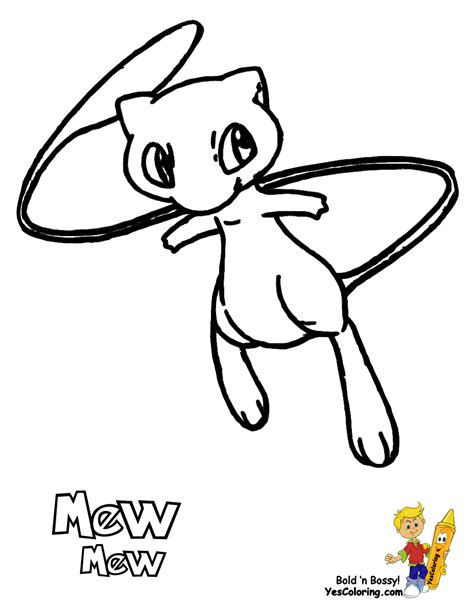 famous pokemon coloring goldeen mew free kids
