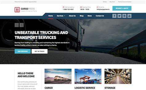 13 Best Transport Wordpress Themes 2018 Logistics Business Truck Transport Website Templates Free