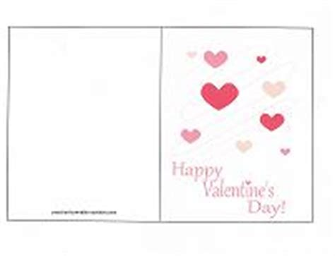 blank valentines day card templates printable cards