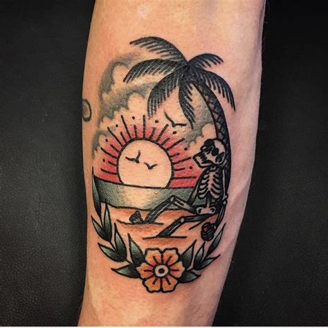 traditional sun tattoo always sun without the skeleton ink