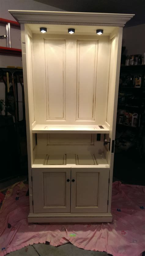 repurposed wood doors into cabinet for the home