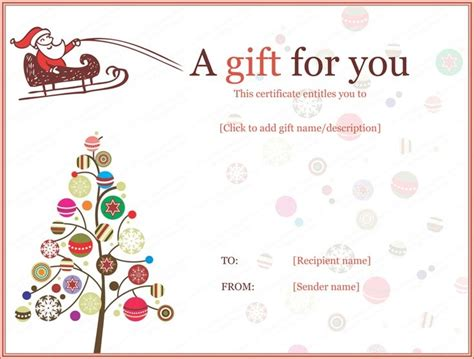 christmas certificates templates free invitation template