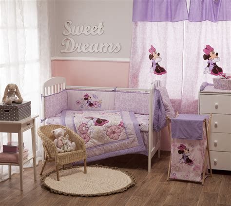 Minnie Crib Bedding Set Disney Minnie Mouse Butterfly Dreams Bedding Collection 4 Pc Crib Bedding Set Unisex Crib