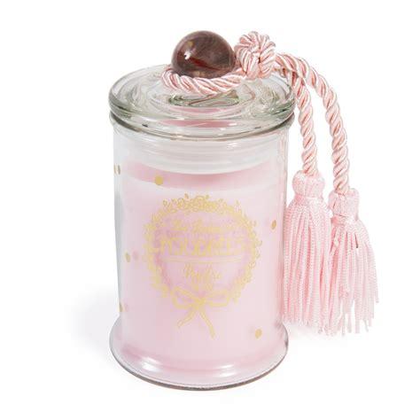 candela bomboniera candela bomboniera rosa al profumo di cipria h 11 cm
