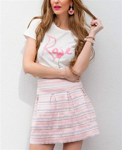 Pastel Blouse Rok scuba rok roze musthaves for real