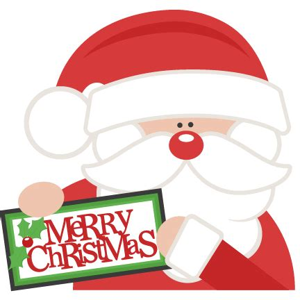merry christmas santa svg scrapbook cut file cute clipart files  silhouette cricut pazzles