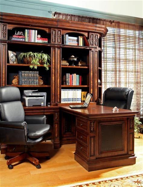 leonardo  piece bookcase library wall  peninsula desk
