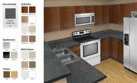 virtual kitchen color designer kitchen design i shape india for small space layout white