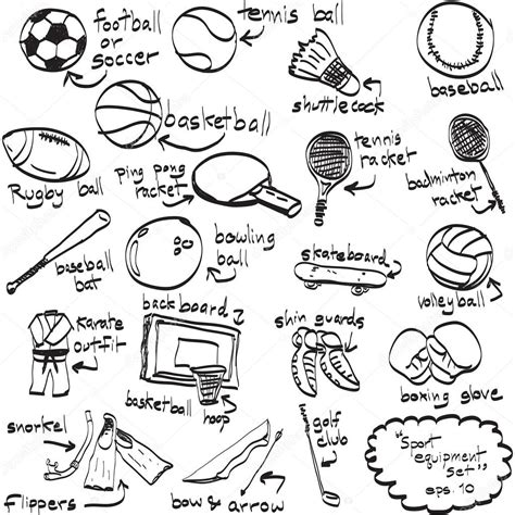 doodle sports free vector sports doodles gallery
