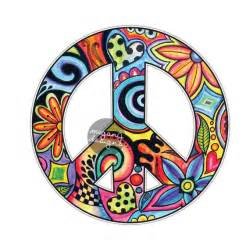 Flower Seat Covers - hippie peace sign sticker colorful from meganjdesigns