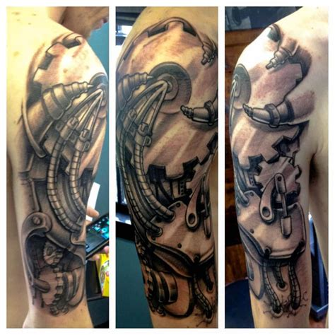 forearm tattoo sleeves sleeve tattoos 3d biomechanical sleeve tattoos gallery