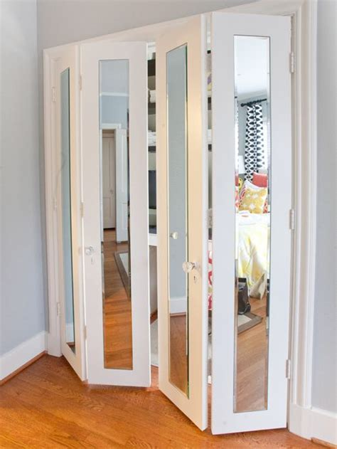 Mirrored Bifold Doors Ideas Pictures Remodel And Decor Mirror Folding Closet Doors