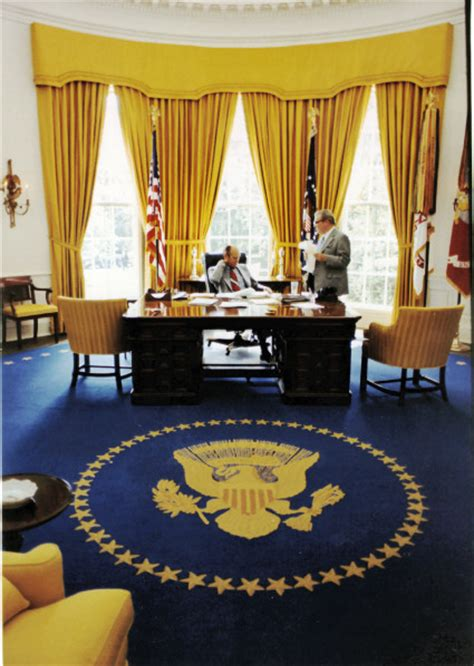 Oval Office Drapes by Oval Office History White House Museum